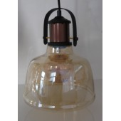 Lampa suspendata Vintage din sticla Amber